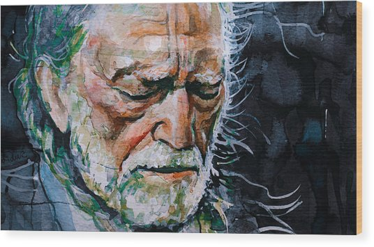 Willie Nelson 7 Wood Print