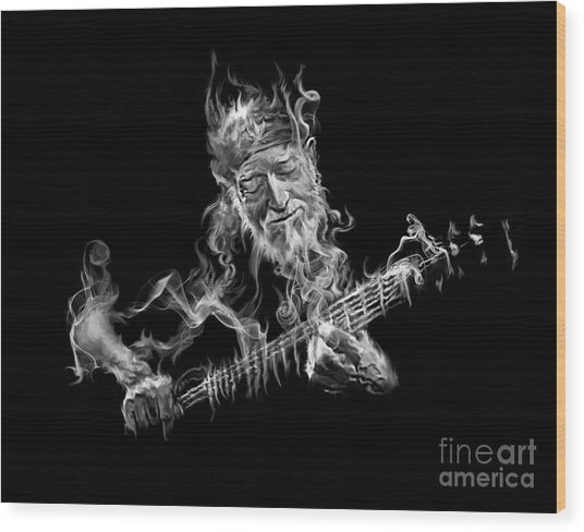 Willie - Up In Smoke Wood Print