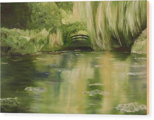 Willow At Monet Wood Print by Lisa Konkol