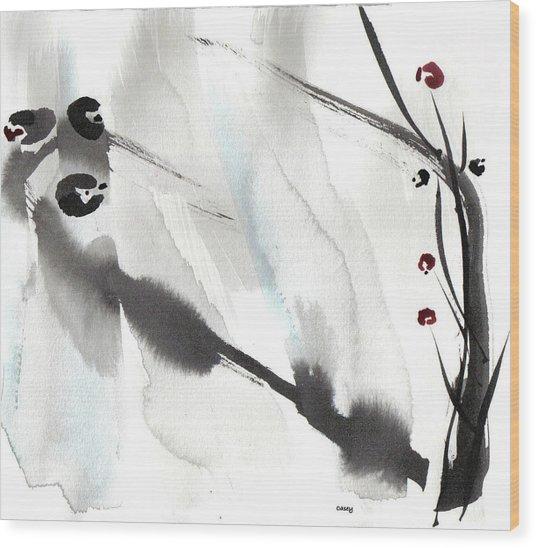 Willow Birds Wood Print