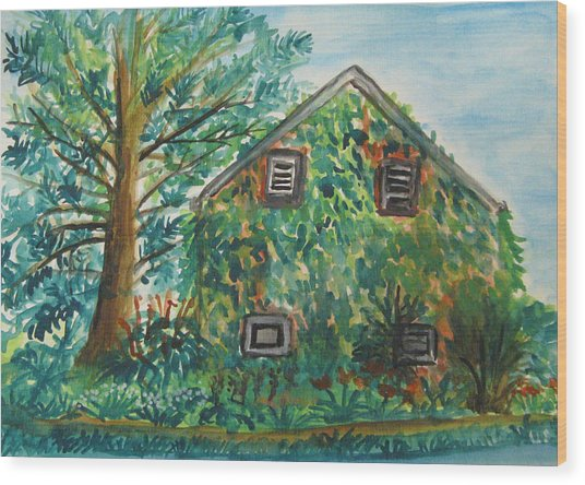 Willowwood Wood Print by Caroline Lifshey