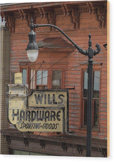 Wills Hardware Wood Print