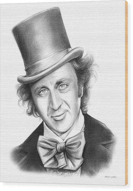 Willy Wonka Wood Print