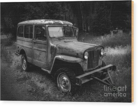 Willys Jeep Station Wagon Wood Print