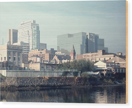 Wilmington From The Brandywine Wood Print