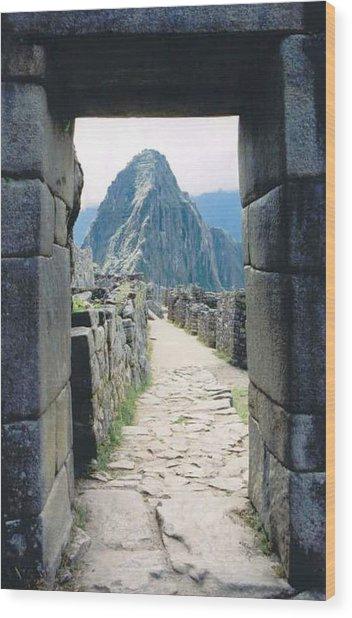 Winay Picchu Wood Print by Kathy Schumann