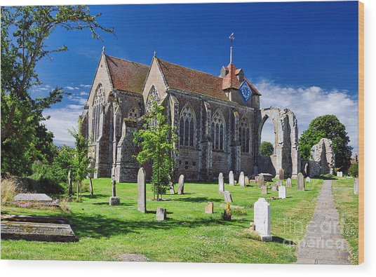 Winchelsea Church Wood Print