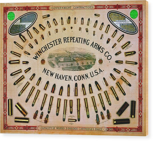 Winchester Government Contractor Cartridge Board Wood Print