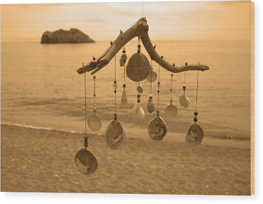 Wind Chime Wood Print by Daren Griffin