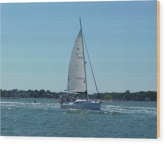 Wind In The Sails Wood Print by Margie Avellino