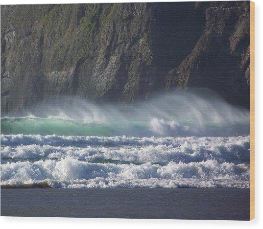 Wind On The Waves Wood Print