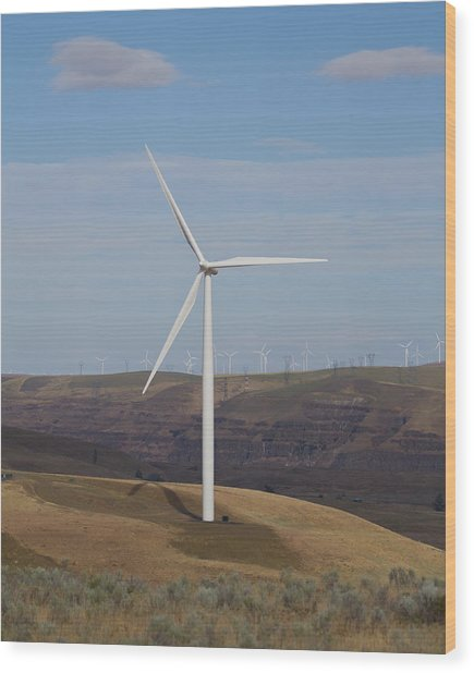 Wind Power 13 Wood Print