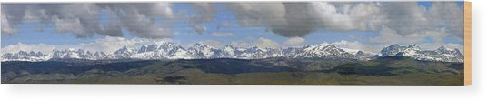 Dm9504-wind River Range Panorama  Wood Print