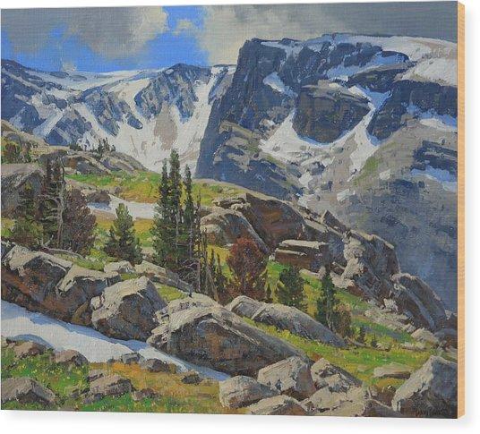 Wind River Range-wyoming Wood Print by Lanny Grant