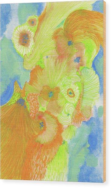 Wind - #ss18dw013 Wood Print by Satomi Sugimoto