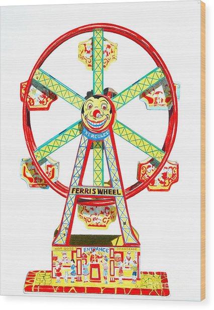 Wind-up Ferris Wheel Wood Print