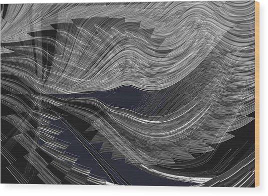 Wind Whipped Wood Print