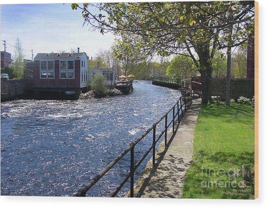 Winding River Wood Print