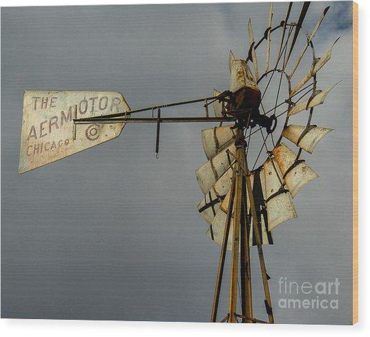 Windmill 1 Wood Print