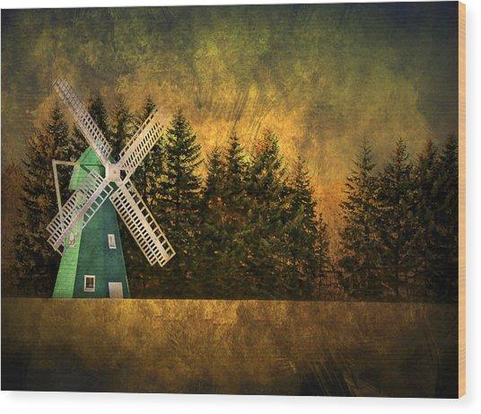 Windmill On My Mind Wood Print