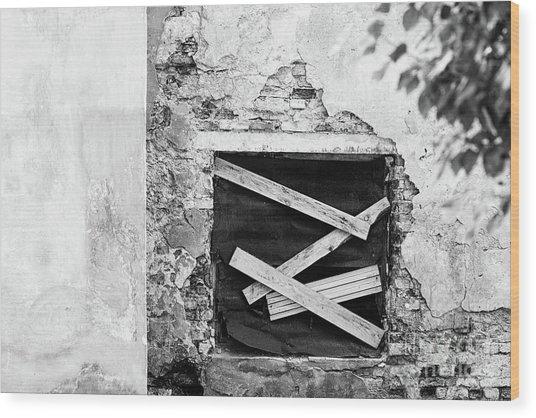 Window #2895 Wood Print