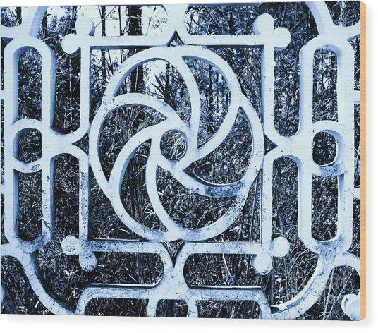 Window #4 Myknonos Blue Angeloffj Wood Print