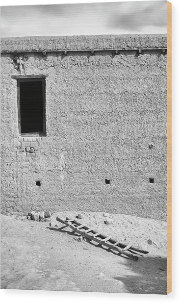 Window And Ladder, Shey, 2005 Wood Print