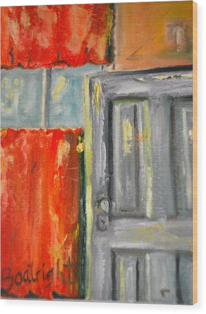 Window And The Pantry Door Wood Print by Diane Fiore