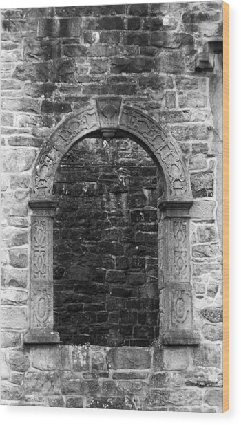 Window At Donegal Castle Ireland Wood Print