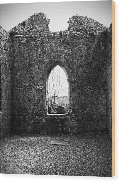 Window At Fuerty Church Roscommon Ireland Wood Print