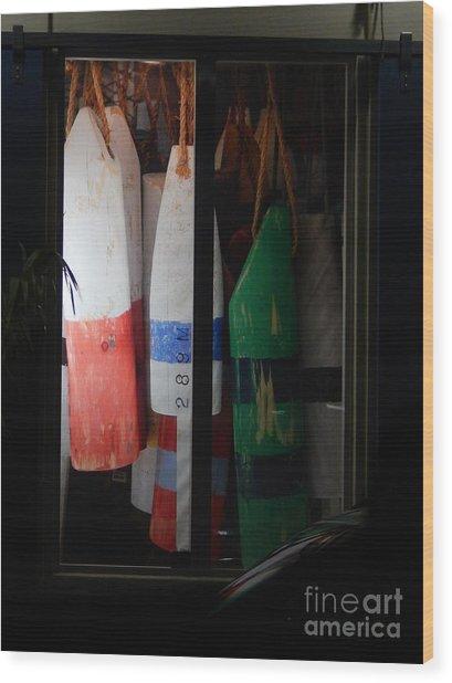 Window Buoys Key West Wood Print
