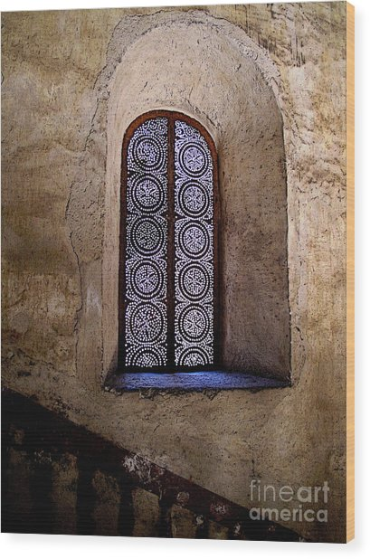 Window In Lace Wood Print by Mexicolors Art Photography