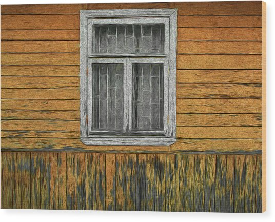 Window In The Old House Wood Print