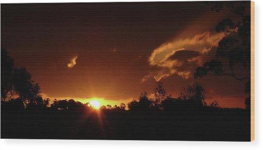 Window In The Sky Wood Print