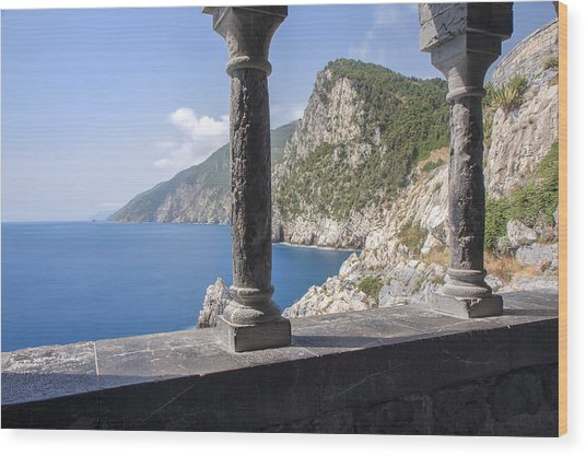 Window On The Sea At Portovenere Wood Print