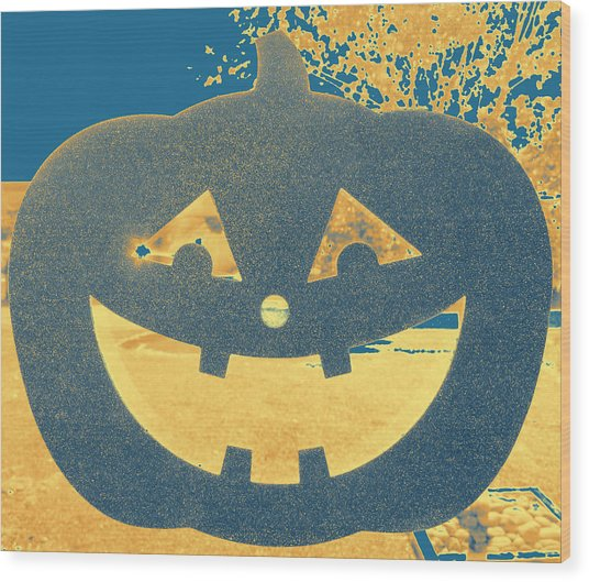Window Pumpkin #2 Wood Print