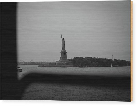 Window To Liberty Wood Print