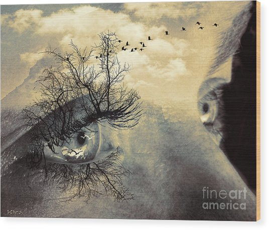 Window To The Soul Wood Print