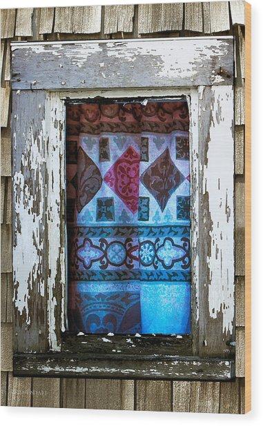 Window Toward The Sea Wood Print
