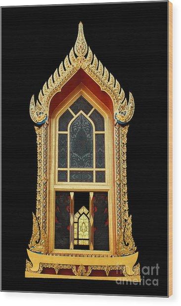 Window Wood Print by Ty Lee