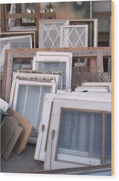 Windows Wood Print by Angela Christine