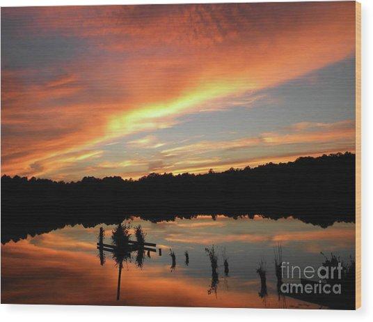 Windows From Heaven Sunset Wood Print