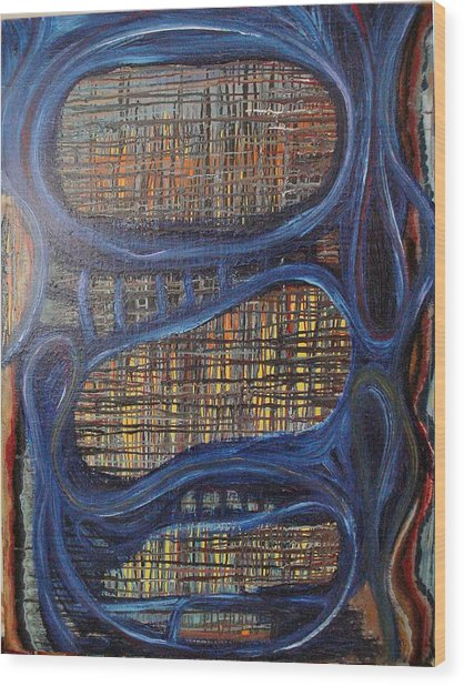 Windows In The Mind Wood Print by Jay Lonewolf