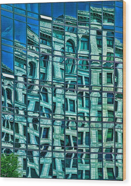 Windows In Windows Wood Print