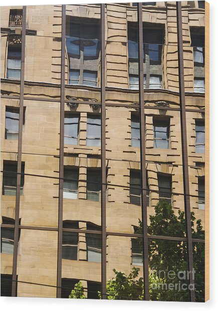 Windows In Windows Wood Print by Hideaki Sakurai