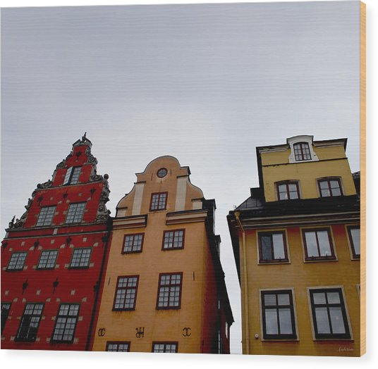 Windows On Gamla Stan Wood Print