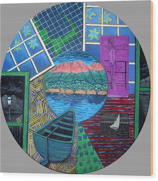 Windows Wood Print by Susan Stewart
