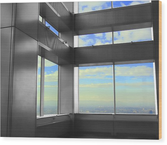 Windows To Tokyo Wood Print