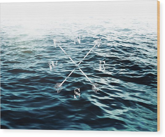 Winds Of The Sea Wood Print