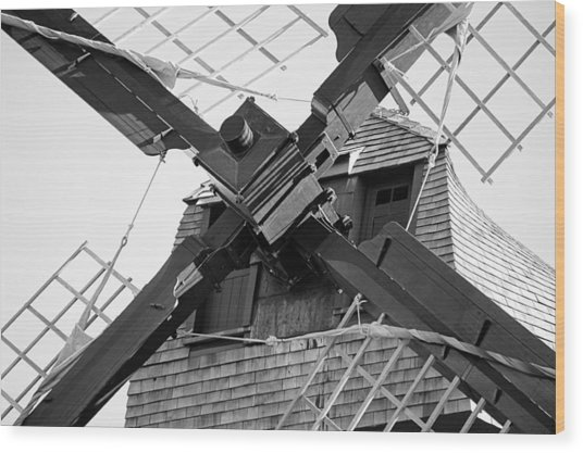 Windshaft Bw Wood Print